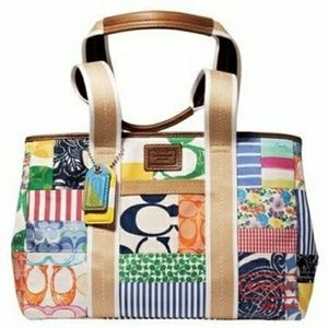 Coach Patchwork Hampton Weekender Tote Bag